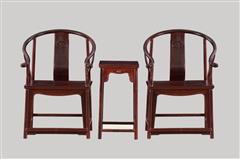 小葉紫檀  圈椅3件套