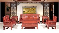 小叶红檀   松鹤沙发(1+2+3)6件套