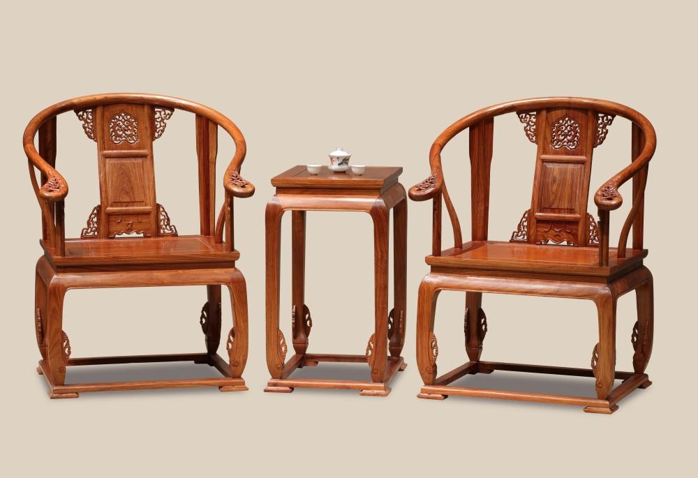 刺猬紫檀  皇宫椅3件套