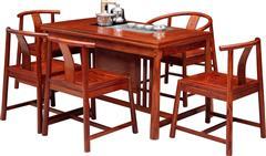 刺猬紫檀  景轩茶台6件套