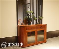 雅宋红木 红木餐边柜 缅甸花梨餐边柜 红木柜子 转角餐边柜
