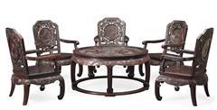 泰和园红木 红木餐桌 小叶紫檀餐桌 雕龙餐桌