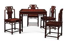 鲁班木艺 中式八仙桌 红木桌 竹节八仙台
