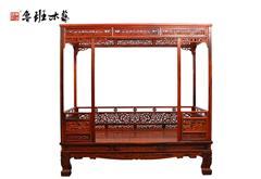 鲁班木艺 红木床 明式床 中式架子床 六柱架子床