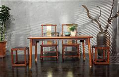 耳顺餐台 铜片椅 茶凳