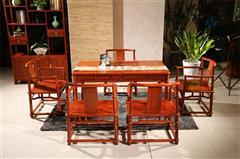 大不同红木 红木茶台 缅甸花梨茶桌 缅甸花梨茶台