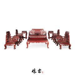 红酸枝博古纹沙发组合
