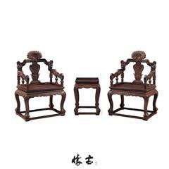 小叶紫檀西番莲纹扶手椅