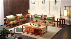 国寿红木 世外桃源 新明式家具 缅甸花梨家具 红木沙发 红木客厅系列 轩逸沙发