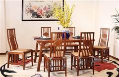 中信千赢国际入口 千赢国际入口餐台 缅甸花梨餐厅 中式餐桌 云程万里餐台