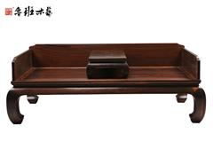 魯班木藝 明式家具 明式羅漢床 紅木羅漢床 鼓腿彭牙獨板圍羅漢床