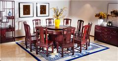 中信红木 红木餐桌 餐厅系列 红酸枝餐桌 红酸枝前程光辉圆台1.6米