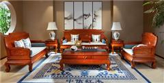 中信红木 缅甸花梨沙发 红木沙发 国标红木家具 客厅系列 缅花盛世和风沙发7件套