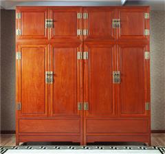 中信红木 红木衣柜 红木顶箱柜 缅甸花梨衣柜 卧室衣柜 缅花山水顶箱柜(素面)