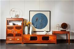 中信紅木 客廳系列 紅木電視柜  緬甸花梨電視柜 滿堂彩視聽柜