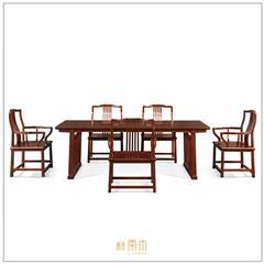 紫檀(赞比亚) · 梳影带托泥茶桌六件套