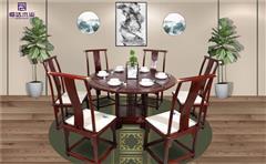 柬埔寨黑酸枝餐桌
