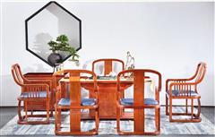 中信·前言  紅木茶臺 新中式紅木 新古典紅木家具 茶桌 紅木家具  知音茶臺