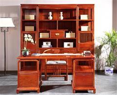 中信红木·前言 红木书房 缅甸花梨书桌 书房系列 红木书柜 满堂彩书房