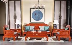 中信千赢国际入口·前言 千赢国际入口沙发 缅甸花梨沙发 中式客厅 中式沙发一套 荷塘月色沙发