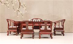 古森红木 阔叶黄檀茶台 茶桌 明式茶台 茶室 新古典红木家具 中式家具