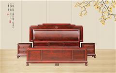 古森红木 红木床 阔叶黄檀大床 卧室系列 明式大床 明式家具 新古典红木家具 中式床榻