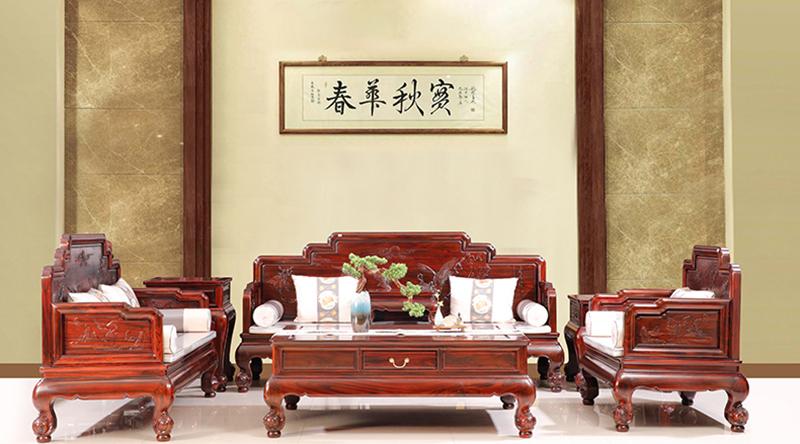 古森红木 中式沙发 新古典 红木沙发 客堂系列 阔叶黄檀家具 明式沙发 明式宝座沙发 宝座
