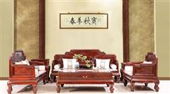 古森红木 中式沙发 新古典 红木沙发 客厅系列 阔叶黄檀家具 明式沙发 明式宝座沙发 宝座