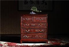 御乾堂 中式古典红木家具 大红酸枝 老红木 交趾黄檀 榫卯制作客厅卧房贵气 清式五斗柜