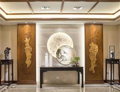 卓木王红木 中式玄关 清风明月玄关空间 新中式红木家具 红木玄关 红木家具定制