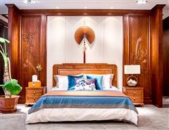 卓木王红木 中式大床 东境卧室空间 红木大床 新中式红木家具 红木家具定制