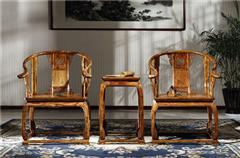 御乾堂 中式古典红木家具 越南黄花梨 经典重现故宫同款 榫卯制作 客厅皇宫椅三件套