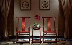 国方家居  中山大不同红木 老挝大红酸枝官帽椅(学名交趾黄檀) 高端红木家具 中式古典客厅系列 八角官帽椅3件套