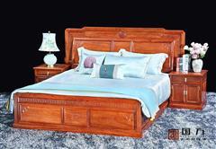 国方家居  中山大不同红木 缅甸花梨(大果紫檀) 套房卧房系列 中式简约大床 古典红木家具 国标红木大床 2米和谐嘉园大床3件套