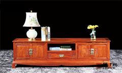 国方家居  中山大不同红木 缅甸花梨(大果紫檀)地柜 客厅系列 古典红木家具 国标红木家具 中式地柜电视柜 2米盛世风华电视柜
