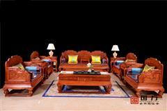 国方家居  中山大不同千赢国际入口 缅甸花梨 檀)沙发 客厅系列 中式沙发 古典千赢国际入口家具 千赢国际入口沙发 步步高升沙发11件套