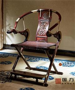 国方家居 中山大不同红木 大红酸枝(交趾黄檀) 书房系列 古典红木家具 交椅