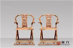 国方家居 中山大不同红木 海南黄花梨交椅(学名降香黄檀) 高端收藏家家具 经典红木家具 交椅3件套