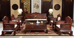 明清居 中式家具 中国梦系列 黄金檀 客厅系列 中国梦A款沙发11件套