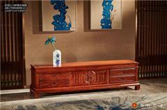 华行红木 巴西花梨地柜 中式古典电视柜 巴花实木家具 2.2米祥云地柜