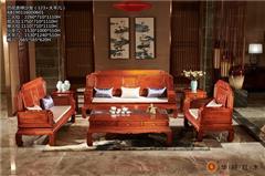 华行红木 巴西花梨沙发 巴花新古典沙发 巴花古典沙发家具 中式客厅系列 吉祥沙发6件套