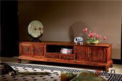 国方家居 中山大不同红木 老挝大红酸枝地柜(学名交趾黄檀) 高端红木家具 红木电视柜地柜