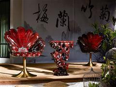泰和园红木 红木椅子 菊花椅  豪情君子菊花椅3件套