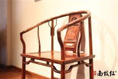 南枝红红木 白酸枝(奥氏黄檀)圈椅 高端红木圈椅 中式古典休闲椅 奥氏黄檀垂手圈椅