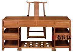 南枝红红木 缅甸花梨(大果紫檀)办公桌书桌 高端红木办公桌书桌 办公书房系列