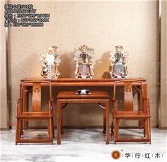 華行紅木 緬甸花梨中堂(學名大果紫檀) 中式新古典中堂 紅木家具 2.35米中堂G01款