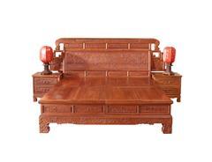 双洋红木 缅甸花梨家具 新古典家具 中式家具 红木家具 卧房系列 中式卧房 六合同春大床