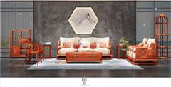 印巷森刻 刺猬紫檀 赏梅客厅沙发 客厅系列 新中式家具
