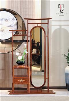 印巷森刻 黑檀 刺猬紫檀 喜上梅梢穿衣镜 卧式系列 新中式家具 红木家具