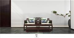 印巷森刻 黑檀 刺猬紫檀 赏梅罗汉床 客厅系列 新中式家具